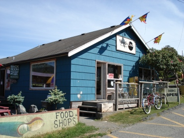 The adorable bookstore in Ucluelet