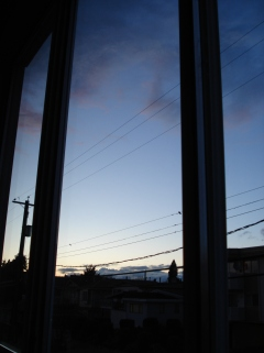 Sunset outside my window in Vancouver