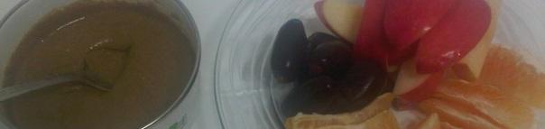 tehina and fruit